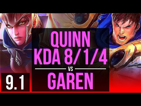 QUINN vs GAREN (TOP) | KDA 8/1/4 | Korea Diamond | v9.1