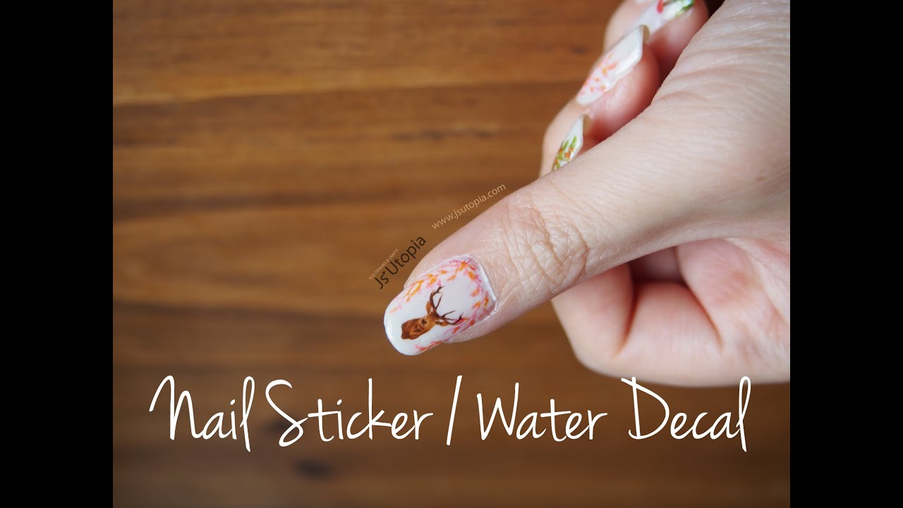 Tutorial Ly Water Slides Nail Sticker Decal