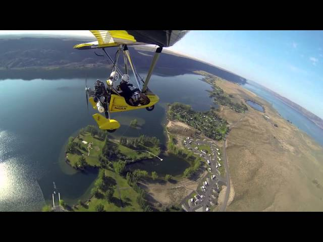 Flying Grand Coulee and Steamboat Rock
