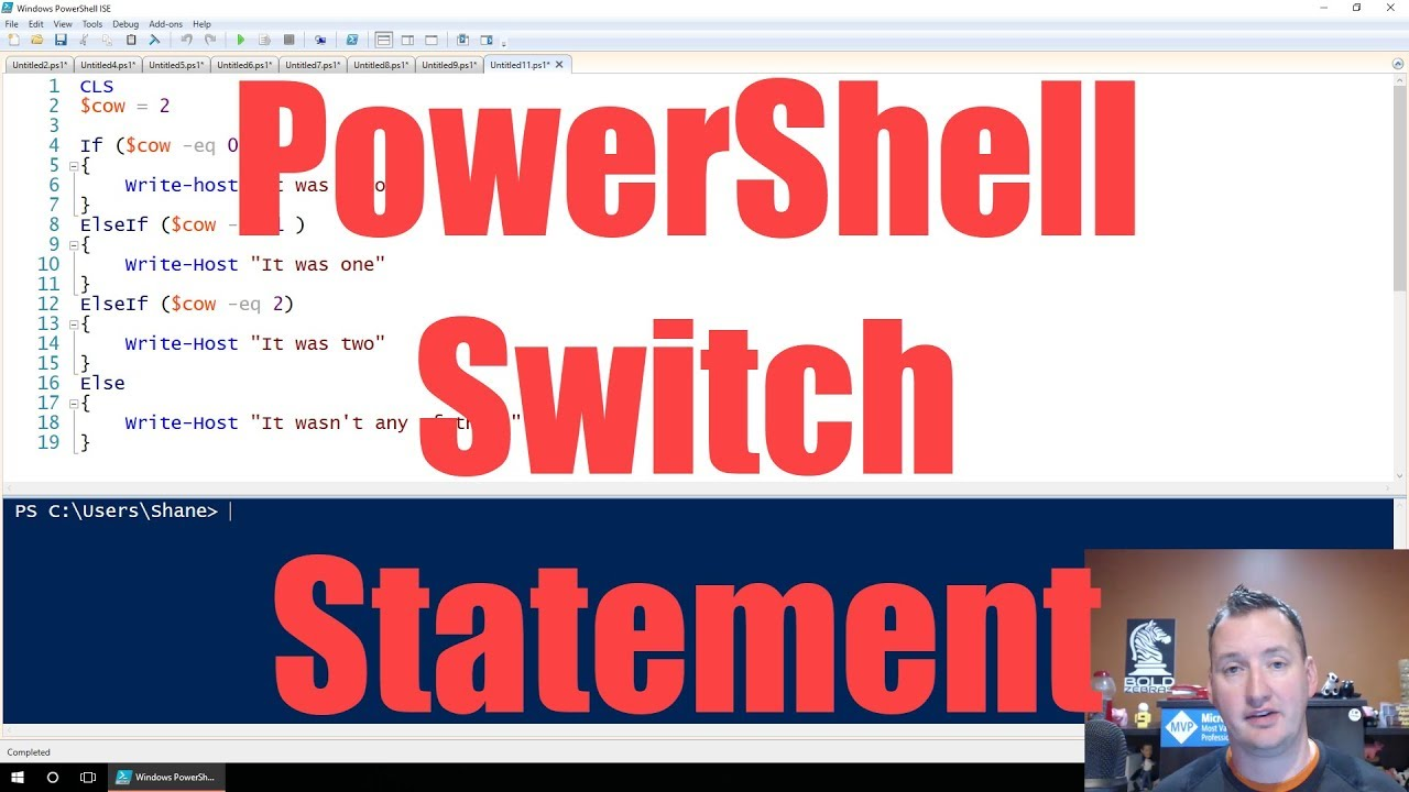 Use the PowerShell Switch statement to replace Ifs