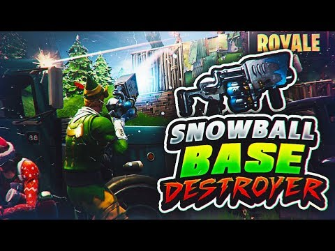 THE ULTIMATE BASE DESTROYER - SNOWBALL LAUNCHER!! (FORTNITE BATTLE ROYALE WITH TEAM ALBOE!!)