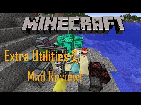 Minecraft 1.12.2 Extra Utilities 2 Mod Review! | Angel Rings ,Quantum Qaurries and more!