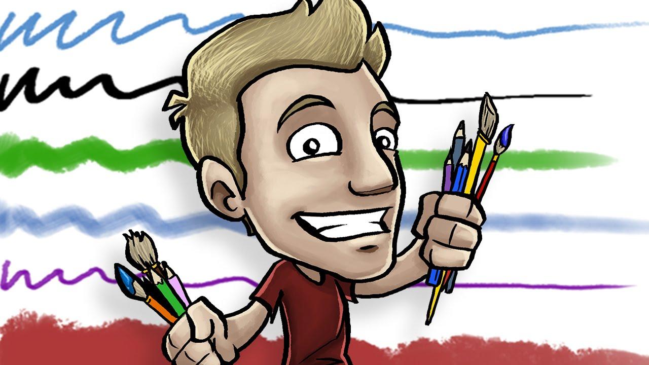 Character Design Draw With Jazza : Jazza s signature photoshop brushes youtube