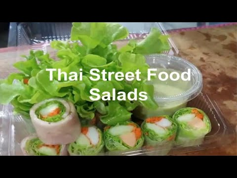 Thai Street Food | Three Different Types of Thai Salads