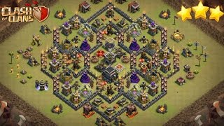 How To 3 Star This Popular Anti 3 Star Th9 War Base 2017 | HGHB & LALOON Attack Strategy