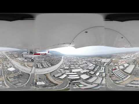 360 video – Cessna 172 flying patterns and landings