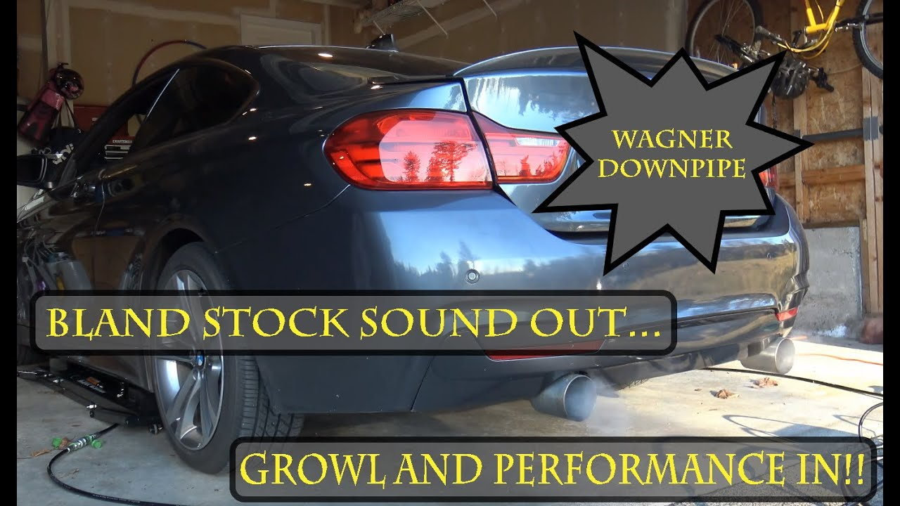BMW F32 435i Wagner High Flow Catted Downpipe sound results!