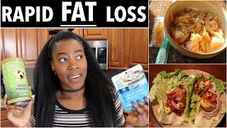 What I Eat in a Day for RAPID *FAT* LOSS