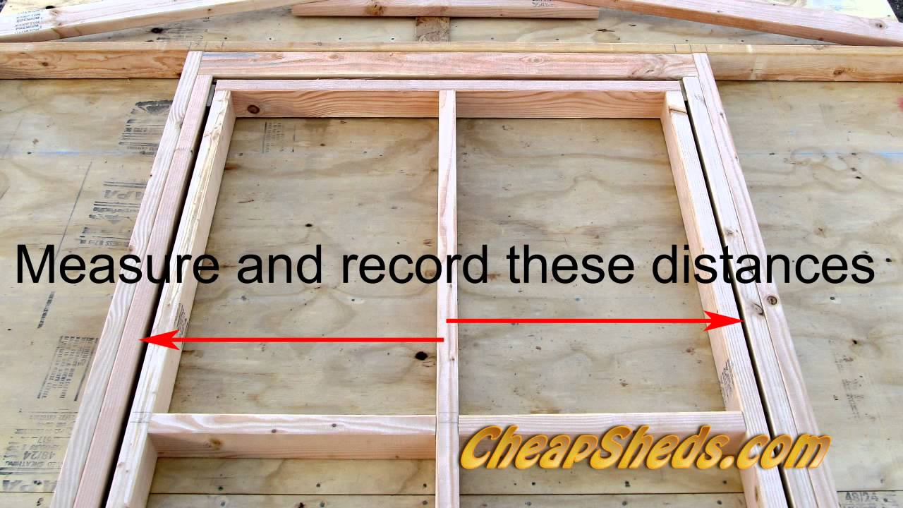 How To Build A Shed Door - YouTube