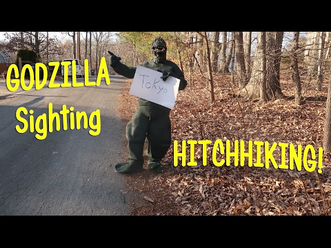 GODZILLA SIGHTING 👀 HITCHHIKING TO TOKYO!  Teenage Girl Helps 👈