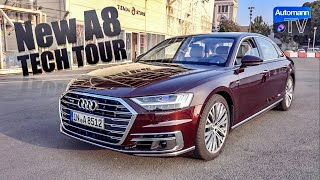 2018 Audi A8 W12 (585hp) - TECH TOUR (60FPS)