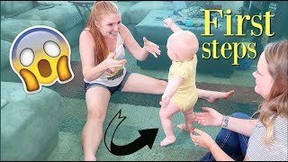 OUR 9 MONTH OLD IS WALKING!!!