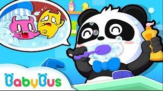 Bayi Panda Kiki & Miumiu Rajin Menggosok Gigi | Kartun Anak | Bahasa Indonesia | BabyBus