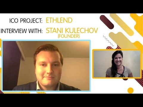 "ICO ""ETHLend"" interview with Stani Kulechov [ENG]"