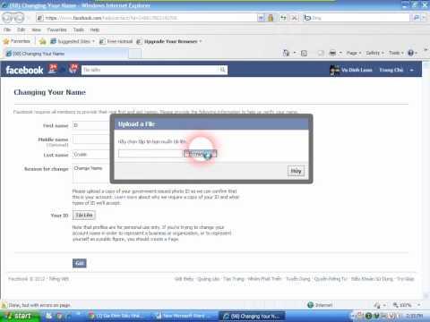 Đổi tên Facebook khi vượt quá giới hạn update 2012 by El Cruise