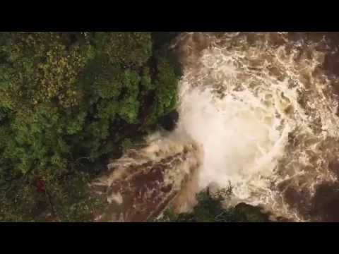 Drone captures our escape from a flash flood while hiking in Maui, Hawaii
