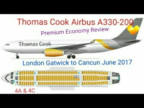 Thomas Cook Airbus A330-200 Premium Economy flight review, Gatwick to Cancun June 2017