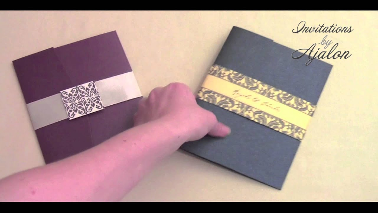 Embellishing Your Wedding Invitation Pocket Folders - YouTube
