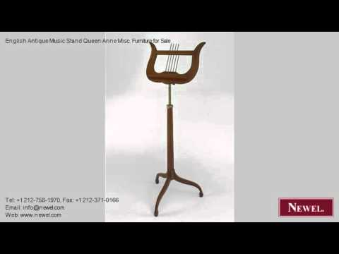 English Antique Music Stand Queen Anne Misc. Furniture