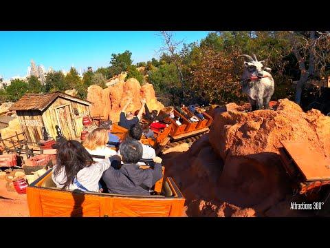 Big Thunder Mountain Coaster Train Ride - Disneyland
