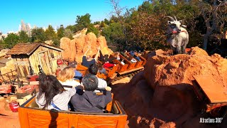 Big Thunder Mountain Coaster Train Ride - Disneyland