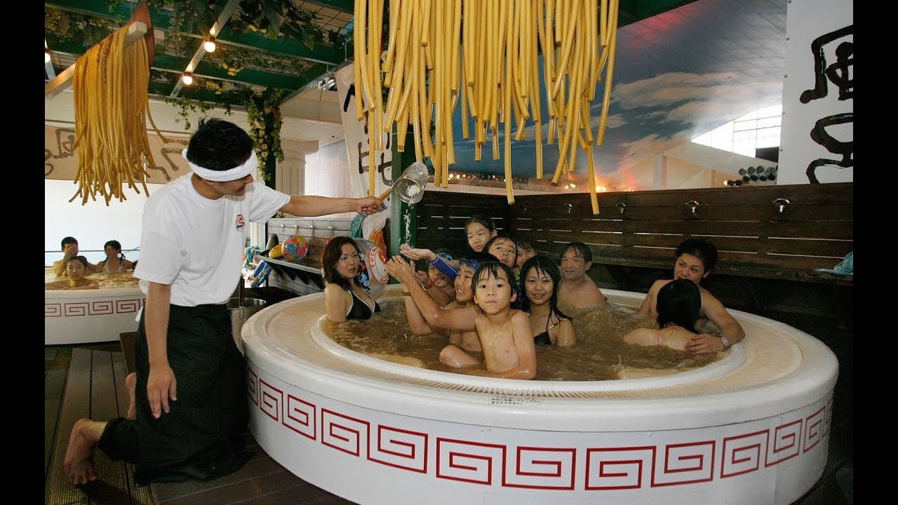 Most BIZARRE Japanese Spas and Theme Parks - YouTube
