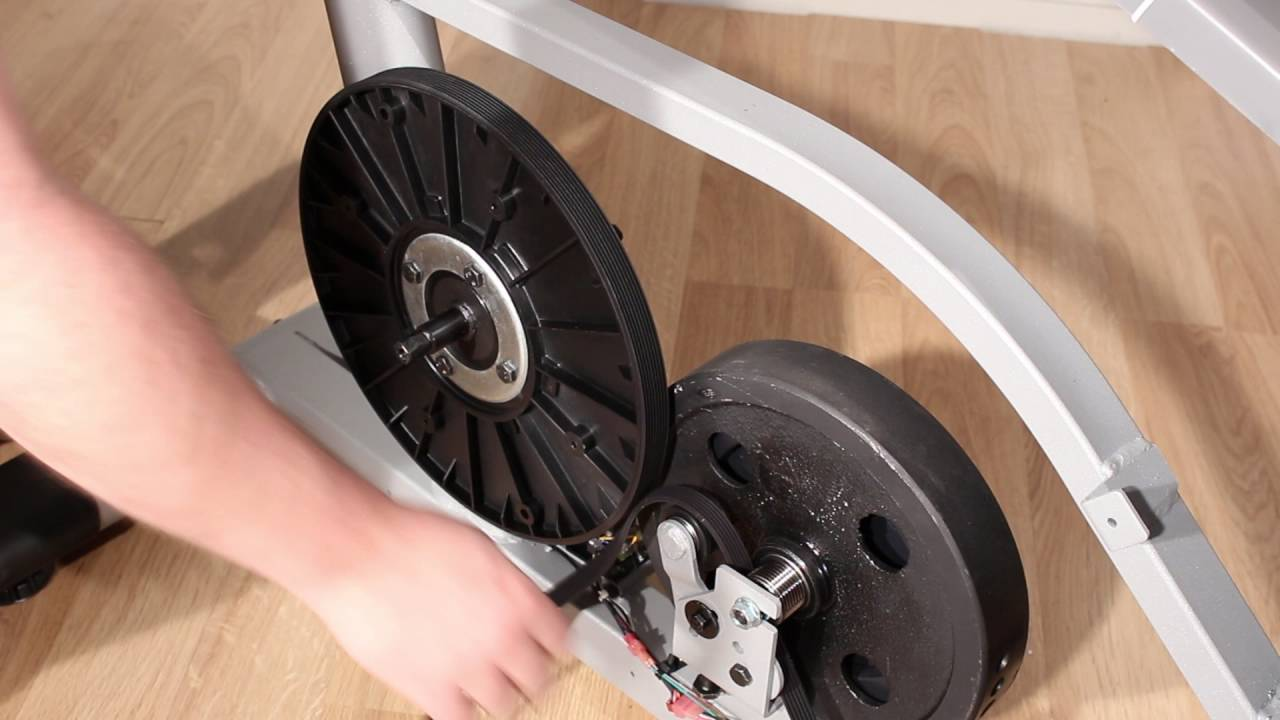 Replacing The Drive Belt Exercise Bike Frame Style C