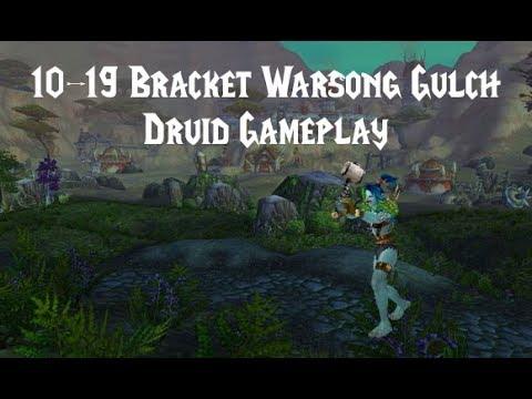 World of Warcraft 10-19 Warsong Gulch   Level 19 Druid Twink