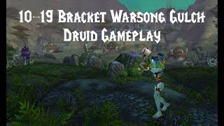 World of Warcraft 10-19 Warsong Gulch | Level 19 Druid Twink