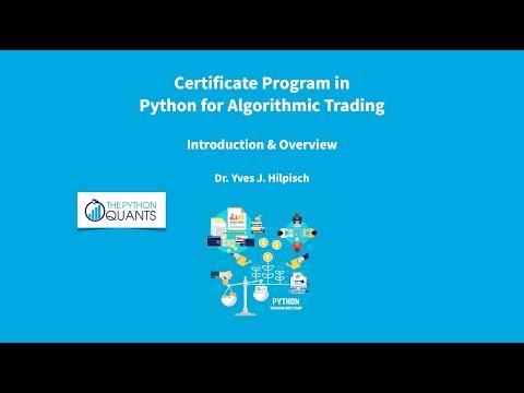 University Certificate in Python for Algorithmic Trading - YouTube