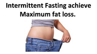 Benefits of fast diet lifestyle