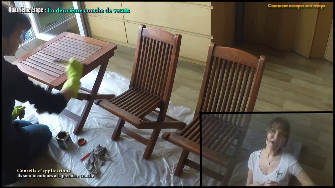 Degriser Une Table En Teck diy: how to renovate an exotic wood garden table with varnish