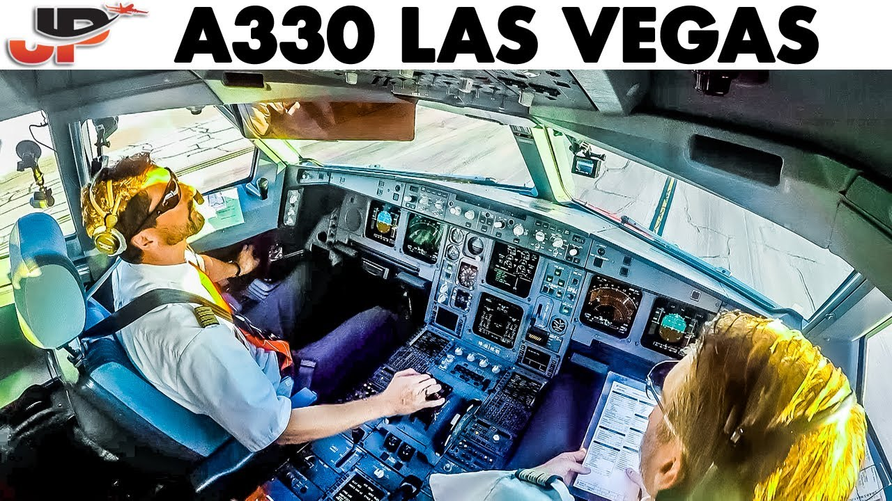 Piloting A330 out of Las Vegas | Cockpit Views + Full Walkaround