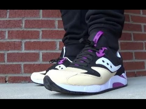 2b78aa939dce Saucony Originals Grid 9000 PB J Sneaker On Feet Review - YouTube