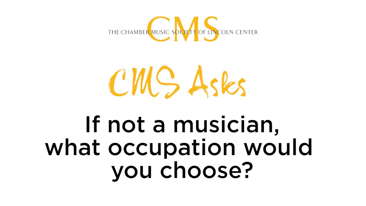 CMS Asks: If not a musician, what career would you choose?