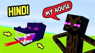I Created ENDERMAN'S Dragon Skull House | MINECRAFT HINDI