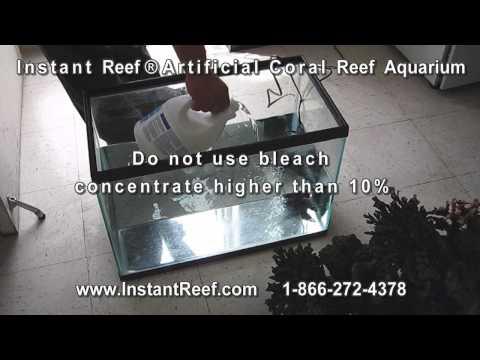 Fish Aquarium Decor Algae Cleaning Control, How to clean Aquarium Algae off Artificial Coral Reefs