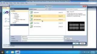 How to Create a Windows 8 Metro Style App using Visual Studio 2011?