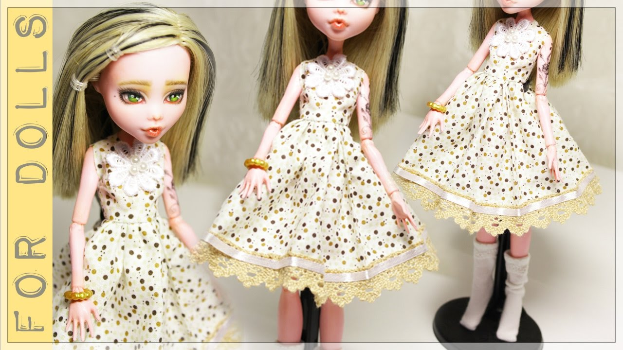 Как сшить платье своими руками быстро и без выкройки для куклы монстр хай фото 817