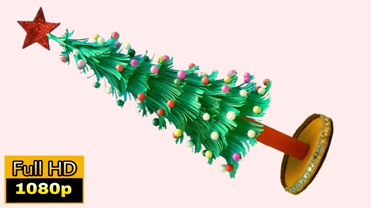 Christmas Tree Kaise Banate Hain Xmas Tree Making At Home Christmas Crafts Ideas Homemade Easy Youtube