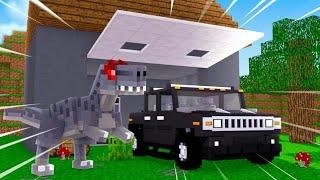 Minecraft - GARAGEM DE DINOSSAUROS ! - PARQUE DOS DINOSSAUROS  ‹ LOKI ›