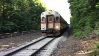 MBTA Rush hour trains at Wellesley farms (6/10/16)