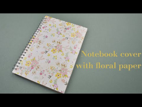 Diy notebook cover with floral paper easy tutorial youtube mightylinksfo
