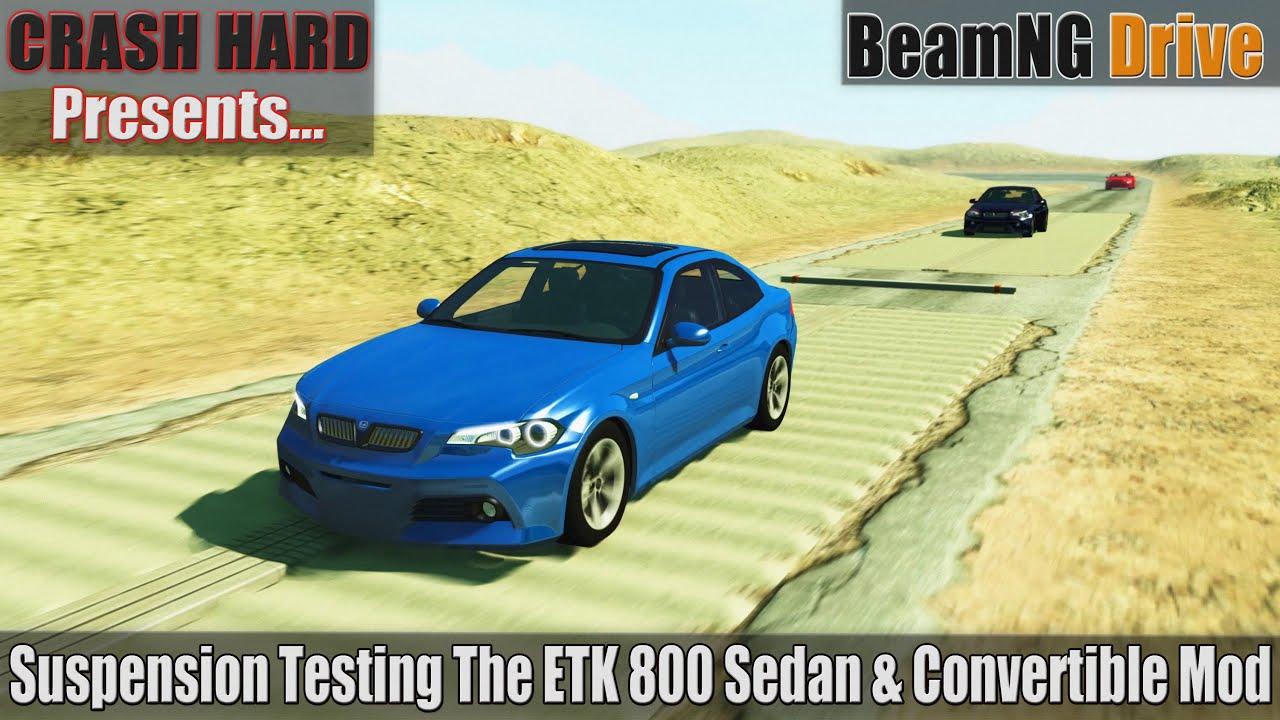 BeamNG Drive - Suspension Testing The ETK 800 Sedan & Convertible Mod