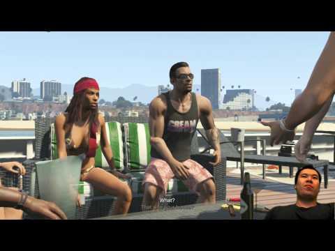 GTA V - Man gets shot Execution Style enjoying Beach View
