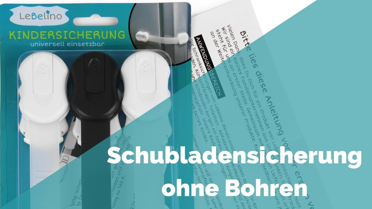 Schubladensicherung ohne Bohren - Wie die Wohnung kindersicher ...