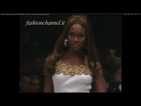 """""""Gianni Versace"""" Spring Summer 1992 Milan 1 of 3 Pret a Porter Woman by FashionChannel"""