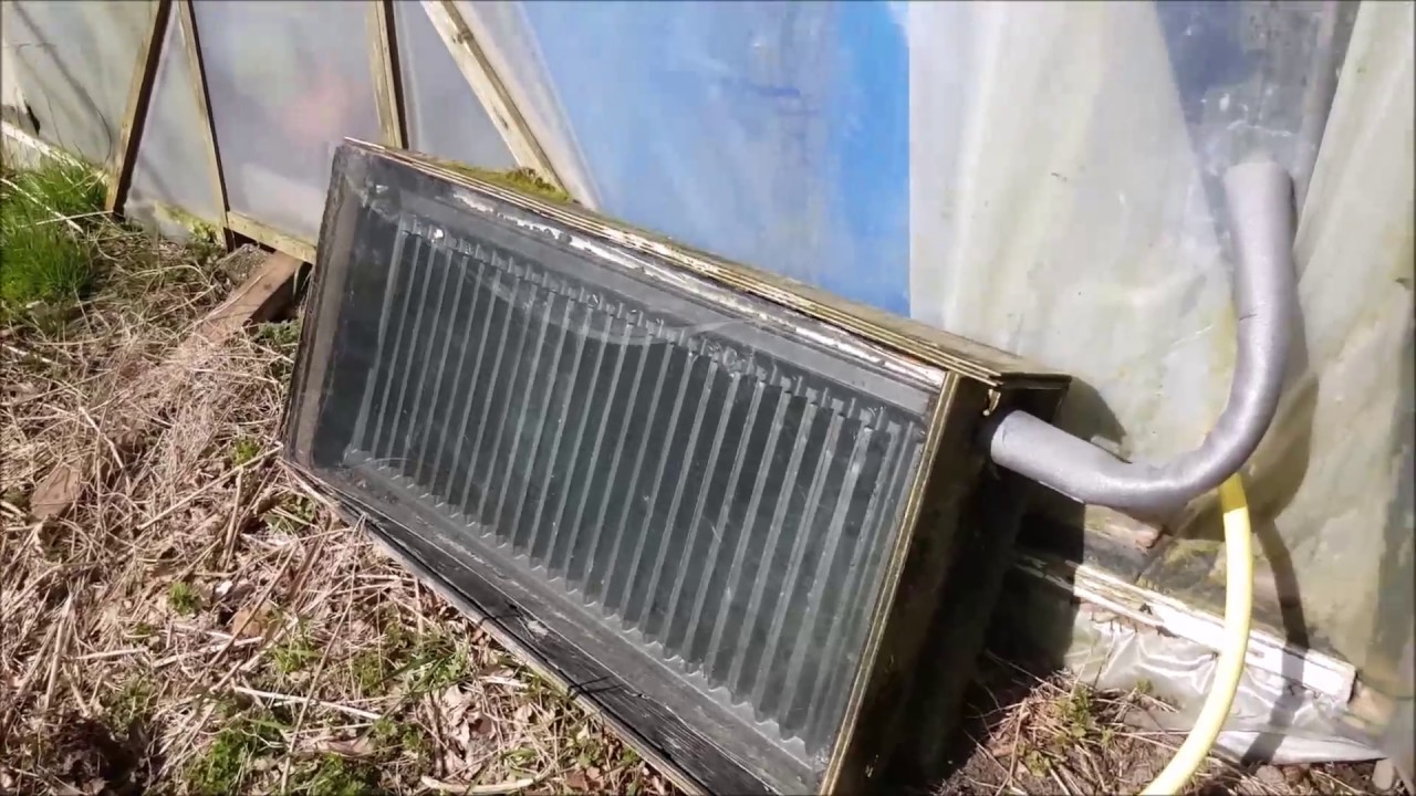 Diy Solar Collector And Storage For My Greenhouse Youtube