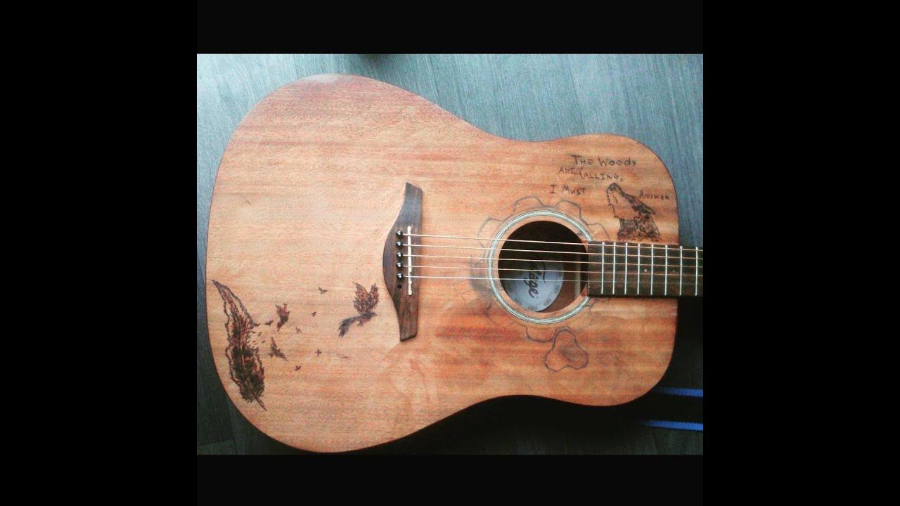 Guitar Wood Burning Part 2
