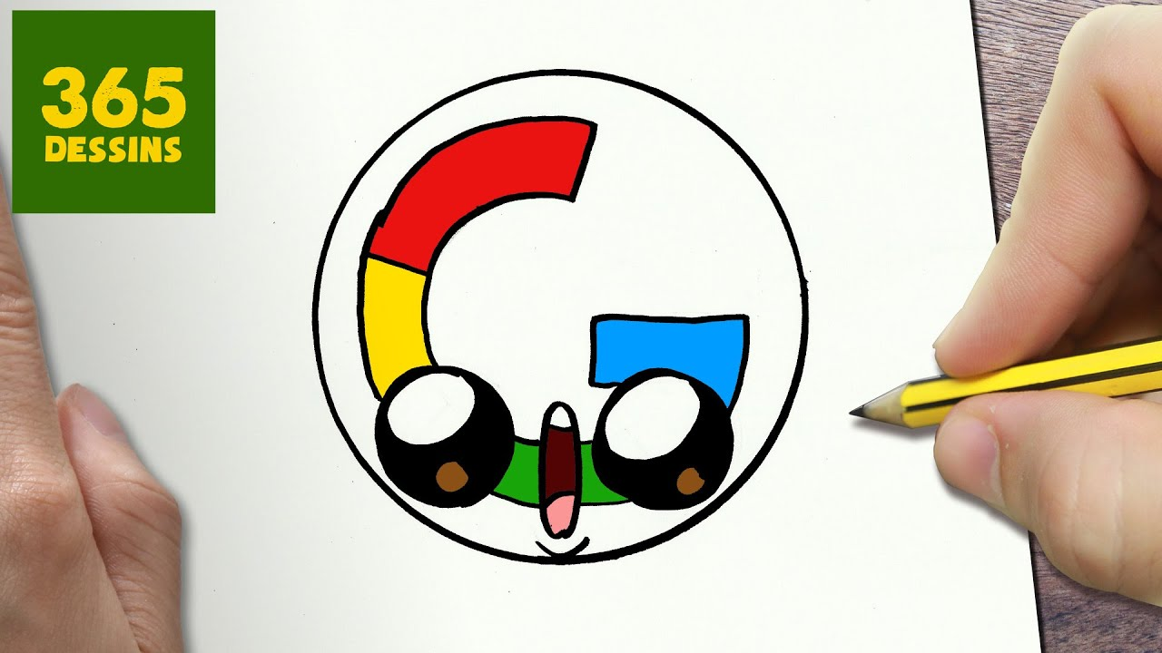 Comment Dessiner Logo Google Kawaii étape Par étape Dessins Kawaii Facile